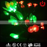 red rose home decoration christmas led tree lighting