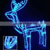 Outdoor Wall Decoration laser light LED magic colour christmas lights for outdoor project/LED 3D motif christmas deer snowman