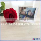 High quality 5*7 acrylic frames acrylic cube 2 sided picture photo frame