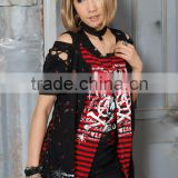 PUNK VISUAL KEI ROCK BLACK TEE CHAIN T-Shirts punk rock band t-shirts 71073