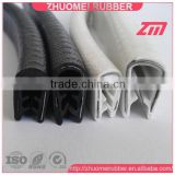 Plastic door protective edge trim