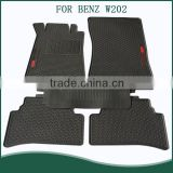 Heavy Duty 5pc Front & Rear Rubber Mats,All Weather Protection,Custom Fit Floor Mats For BENZ W202