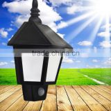 Solar led Waterproof wall mounted battery operated garden light led emergency outdoor solar corner led lawn garden lamp light