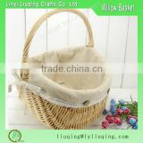 Quality cheap bulk chic vintage woven wicker gift wine picnic basket wholesale
