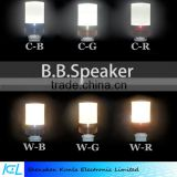 Hot new products for 2016 home appliances bluetooth led bulb speaker with changeable LED light