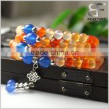 Chakra Jewelry Buddhist Prayer Mala Beads Tibetan Healing Stones Natural Original Agate Wrap Bracelet Necklace