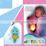 Plush Soothe Glow Light And Music Seahorse baby Toy With 8 Songs