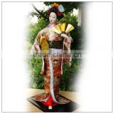 Yellow colro japanese love dolls,22inch GEISHA Doll for home decoration