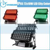 2015 Bright Building Wash Hot Sale Outdoor 4in1 Rgbw 72x10W City Color Led With Dmx control