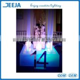 Single White Color 3'' Led Light Base For Vase Water Decoration With Remote Control