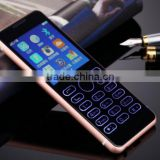 318-Full Aluminum Thin Cellphone Elderly Phone Student Phone Business Backup Phone 1800mAh 2.3Inch with Colorful Glass