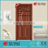 good surface Melamine laminated mdf wood for Bathroom Glass Inetrior Door At Wholesale Price Free Shipping from Xupai