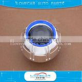 2016 Univesal 3 inch shroud for hid xenon projector lens cover for headlamp blue pc angel eye mask