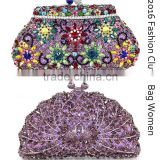 2016 wholesale rhinestone clutch evening bags women/peacock crystal clutch purses for party                                                                         Quality Choice