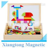 Educational toys wooden drawing board magnetic jigsaw colorfull puzzle for children                                                                         Quality Choice