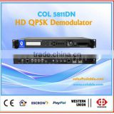 Hd/sd sdi decoder, dvb-s2 to ip udp/rtp/rtsp, and qpsk demodulator in tv headend broadcast COL5811DN