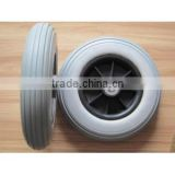 200x85 pu wheels 200mm flat free tire for hand trolley scooter and kid toy