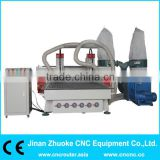 Wood CNC Engraving Machine With 2 GC Air Cooling Spindles/Dust Collector/DSP/Vacuum Table ZK-1325-2