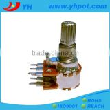 jiangsu 13mm 6 pin volume control rotary guitar potentiometer with metal shaft