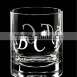 Hand blown scotch whisky glass,thick bottom whisky glass