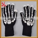 Clubbing Dance LED Light Up Skeleton Gloves Flashing Finger Lighting Glow Gloves Halloween