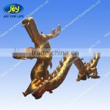 Advertising Gold Color Inflatable Zenith Dragon