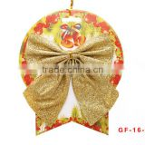 Wholesale prices OEM quality Cheap holiday decorations two head flannel red christmas bows with many colors