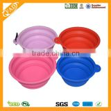 Eco-friendly Wholesale Top Quality Nontoxic FDA Standard Portable Collapsible Silicone Travel Bowl