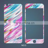 Alibaba express for iphone 6\6s colorful rainbow tempered glass screen protective film with painting designs, China supplier