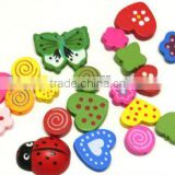 Wooden bead for jewelry, hot sale animal design beads