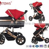 Baby Stroller China Products Brake System Baby Buggy Prams High Landscape 3 in 1 Beautiful Good Removable Folding Cot