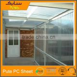 sun protection for buildings shed polycarbonate roof top tent hard shell transparent plastic panels