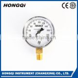 Corrosion resistant miniature pressure gauge for fire extinguisher