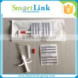 RFID animal glass chip with syringe,ISO11784/5 FDX-B rfid microchip,RFID Animal Tag for Identification and Tracking