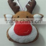 Hot sell Handmade reindeer head felt decoration made in China
