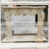High Quality Egypt Cream Marble Fireplace Mantel