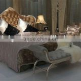 Elegant design luxury hotel bedroom set,bed,sidetable,bed stool,can be customized-BG90437 MOQ:1 SET