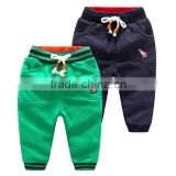 Newest casual boys jogger pants wholesale cotton fleece training running tracksuit
