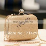 New Elegant Mini Evening Bag Clutch Women's Lady Shinning Bag Purse Wallet Golden/Blue 16711