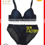 hot sale girl underwear elegant comfortable high quality Molding Cup sexy lace net bra panty