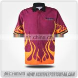 Racing pit crew shirt with full snap