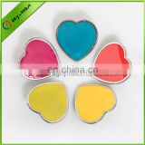 Disney authorized factory custom badge holder button badge soft enamel add epoxy heart shape badge pin