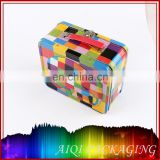 Custom metal lunch box birthday tin boxes