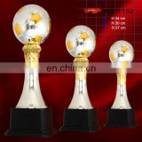 high quality metal inflatable solid world cup trophy
