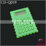 Plastic green rhinestone jeweled calculator CD-Q019