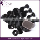 Body wave virgin remy brazilian human hair bundles with lace closure