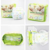 Popular Dry Surface Absorption and Non Woven Fabric Material baby diaper stock lot