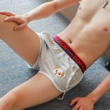 Men's boxer shorts embroidery puppy cute loose summer breathable Arrow pants youth pants