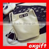 OXGIFT pu leather Bucket Messenger Bag Designer Handbags Shop ladies fashion Bags