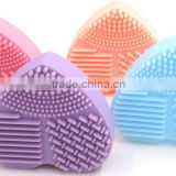 Hot style silicone heart-shaped wash eggs Makeup brush cleaning tools Factory direct sale price